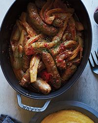 Stewed Sweet Sausages in Fennel-Tomato Sauce Recipe on Food & Wine