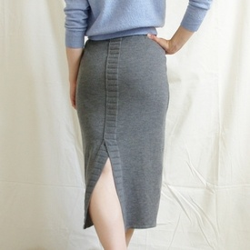 Knit pencil skirt. Love the skirt. Wish my butt looked this good in it.