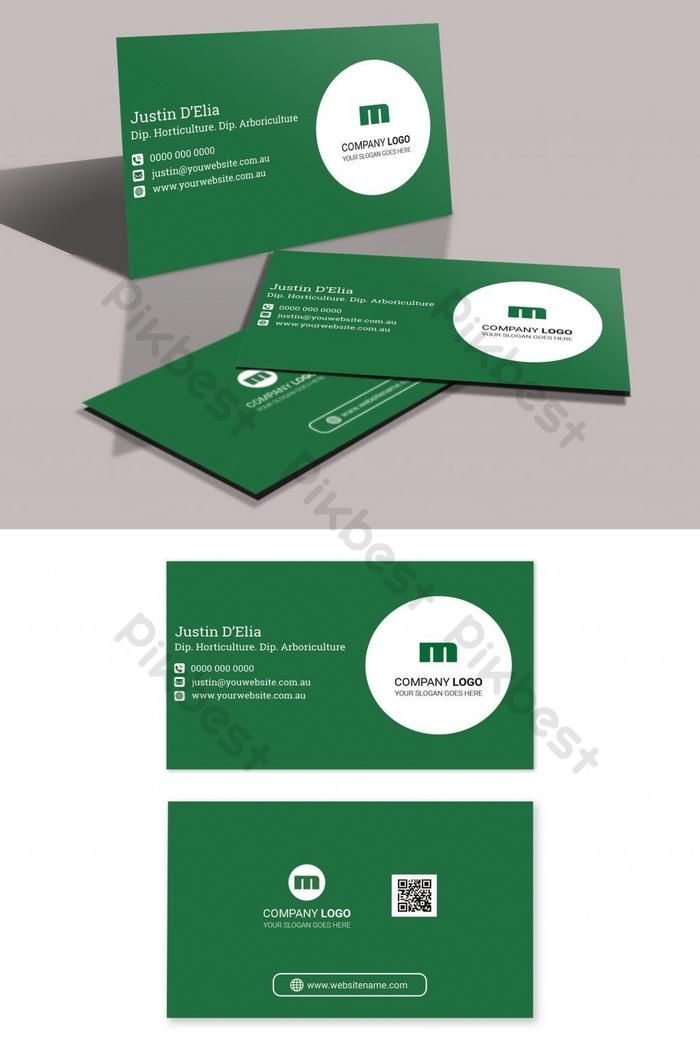 Green And White Business Card Psd Free Download Pikbest White Business Card Business Card Psd Free Business Card Template Psd