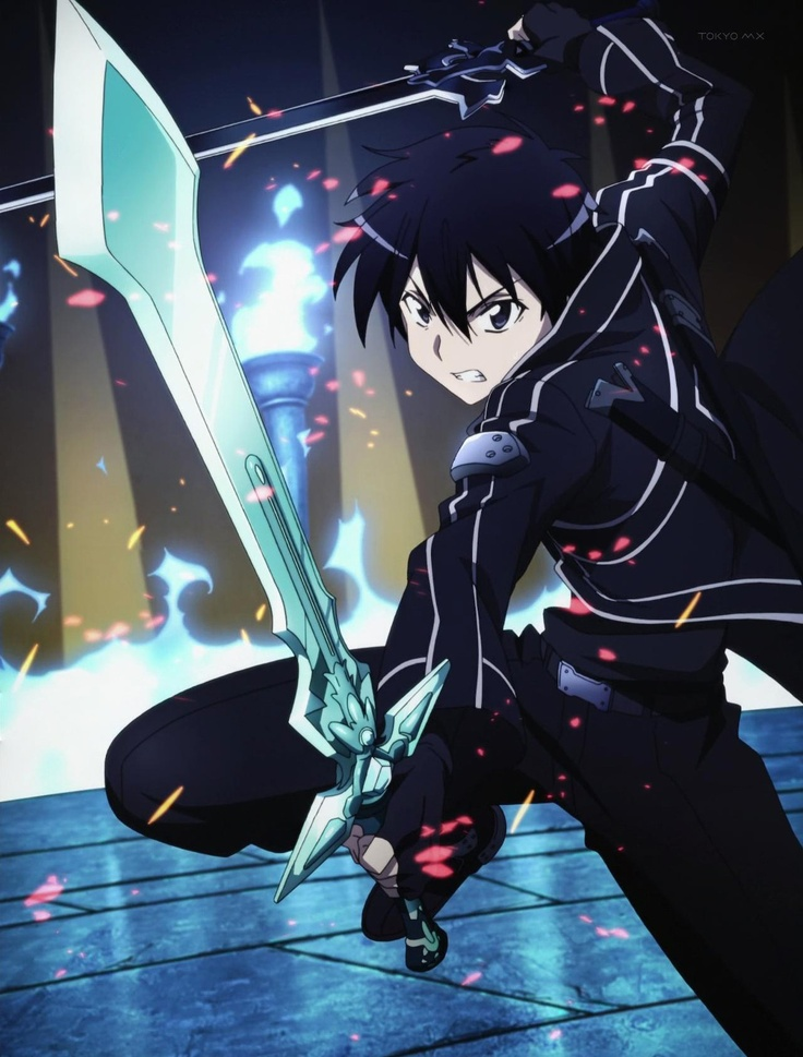 Kirito from S.A.O (Sword Art Online) is my anime crush lol