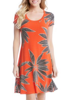 Karen Kane Women's Short Sleeve T-Shirt Dress - Multi - Xl