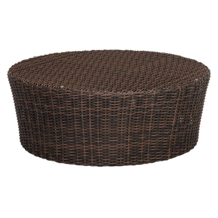 Outdoor Sunset West Montecito Round Wicker Patio Coffee Table - 2501-RCT
