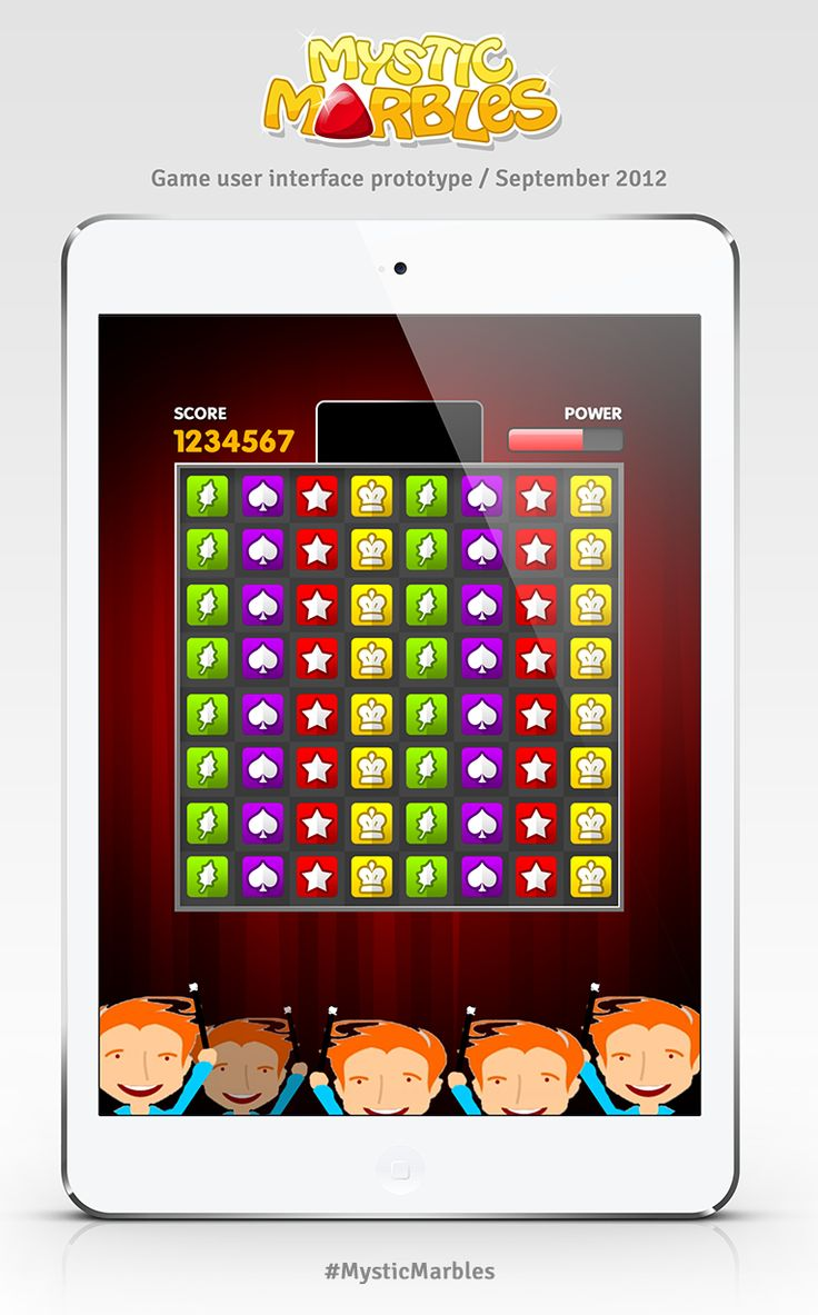 First user interface prototype for Mystic Marbles. #MysticMarbles #iPhone #iPad #Android #Game