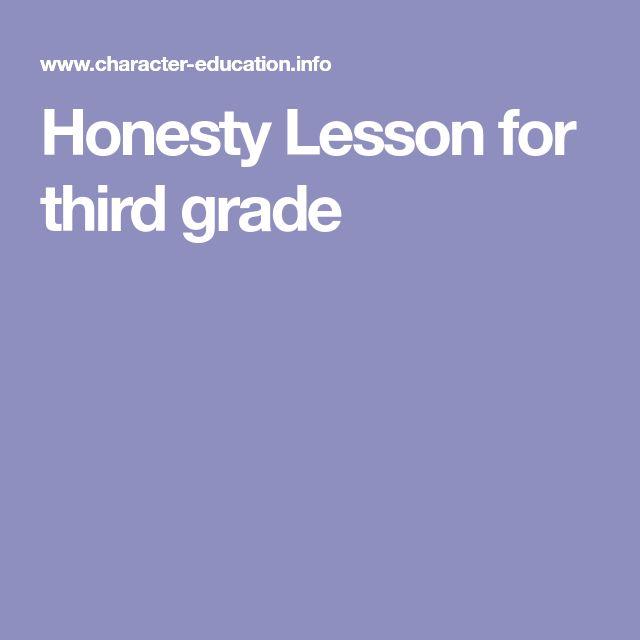 Honesty Lesson for third grade