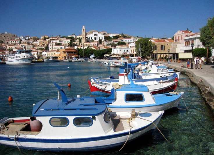 Anyone up for relaxed casual fishing? Hop in one of the boats on the unspoilt island of Halki, in the Dodecanese region of Greece.