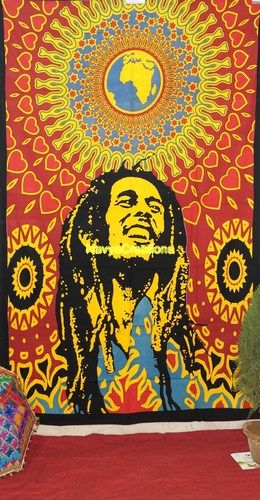 Bob Marley Rasta Reggae Africa Circles Fabric Tapestry .  Bob Marley Print Ethnic Indian Wall Hanging Tapestry Twin Throw Ethnic Bedspread Decor .