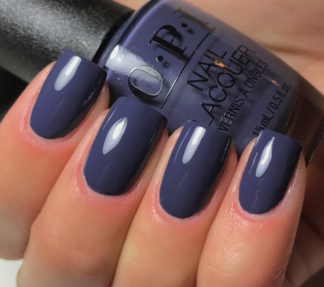 opi less is norse blue nails pinterest
