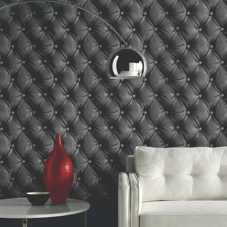 Arthouse Desire Geometric Black Wallpaper - http://godecorating.co.uk/arthouse-desire-geometric-black-wallpaper/