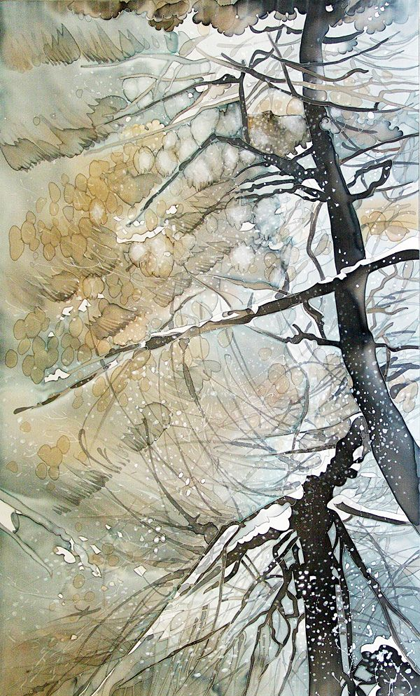silk painting_ artwork_trees | Flickr - Photo Sharing!
