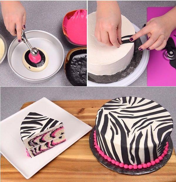 Bolo de Zebra em Rosa - http://coisasdamaria.com/bolo-de-zebra-em-rosa/
