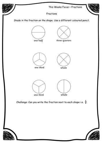 17 Best ideas about Fractions Of Shapes on Pinterest | Math ...