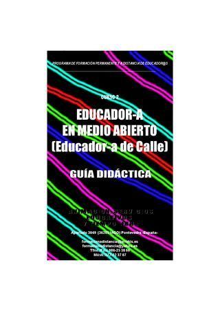 Guia Didactica Curso a distancia Educador de Calle (Educador en Medio Abierto)