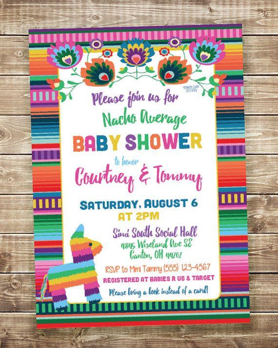 nacho average baby shower invitation fiesta baby shower babyshower