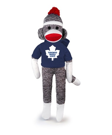 Take a look at this Toronto Maple Leafs Sock Monkey by Plushland on #zulily today!