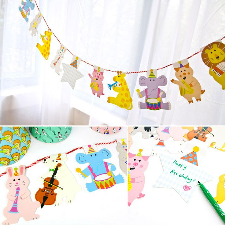 15pcs/set cartoon animals flags Children's day Banner Flag hang Pennants Banner Kids birthday Party Decorations Supplies flags //Price: $9.95 & FREE Shipping //     #partysupplies