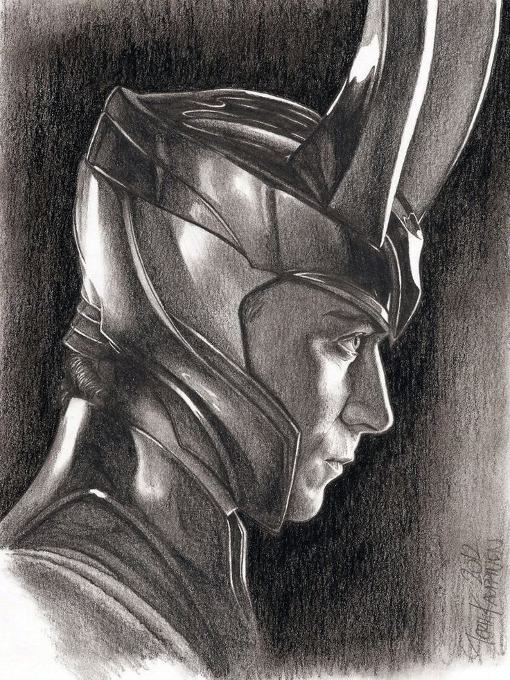 Pin by Bridget Kensington on Art | Drawings, Loki drawing ...