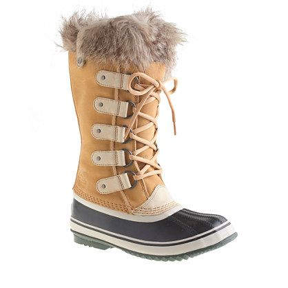Founded in Ontario, Canada, in 1962, Sorel was one of the first companies to combine durable leather uppers with waterproof rubber bottoms and warm felt liners. We worked with Sorel to create a J.Crew-exclusive version of its classic Joan of Arctic boot, complete with a waterproof full-grain upper, a faux-fur cuff and a removable felt liner. <ul><li>Suede upper.</li><li>Rubber sole.</li><li>Import.</li></ul>