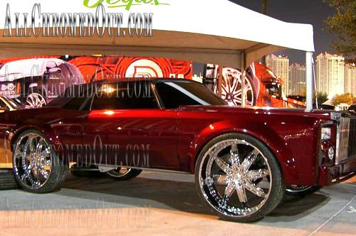 Custom Chrome Rims On Pimped Out Donk Cars Chevy Bubbles