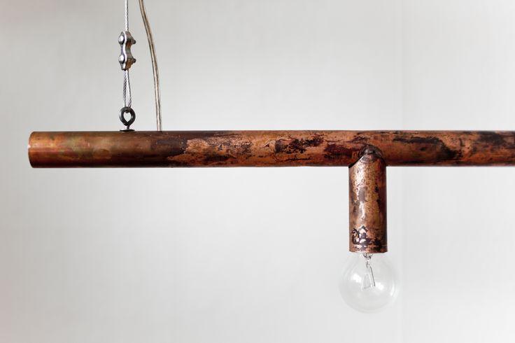 Copper Tube Lamp by Filip Forsberg