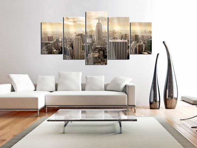 Cuadro en vidrio acrílico New York and Sunrise [Glass]