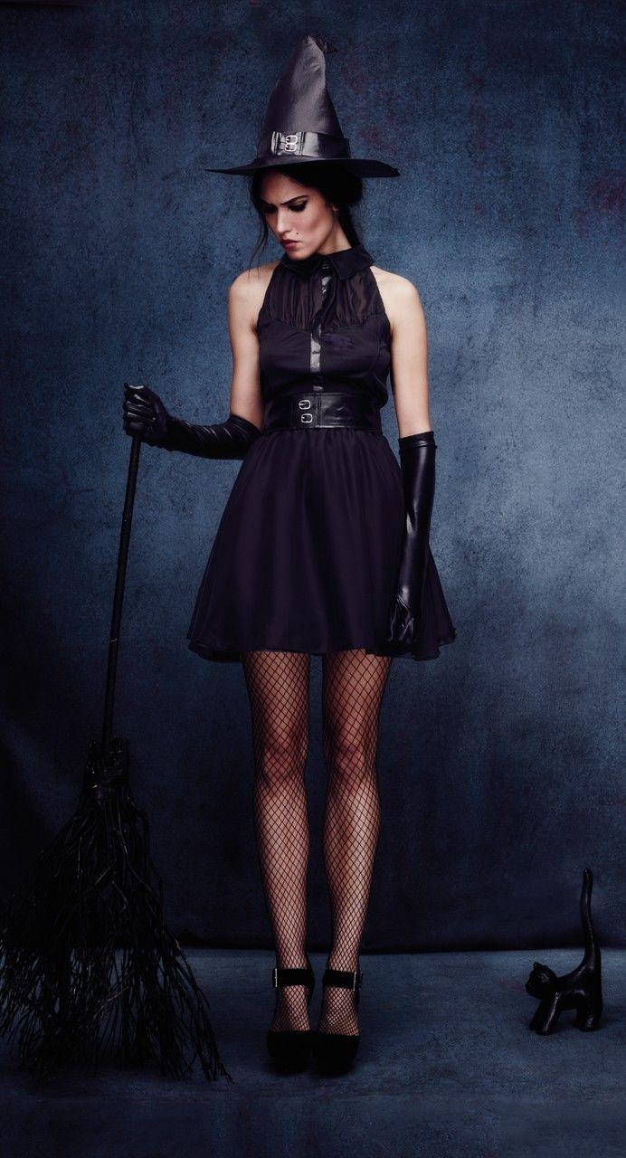 Disfraz de Bruja Negra Elegante para Mujer Comprar