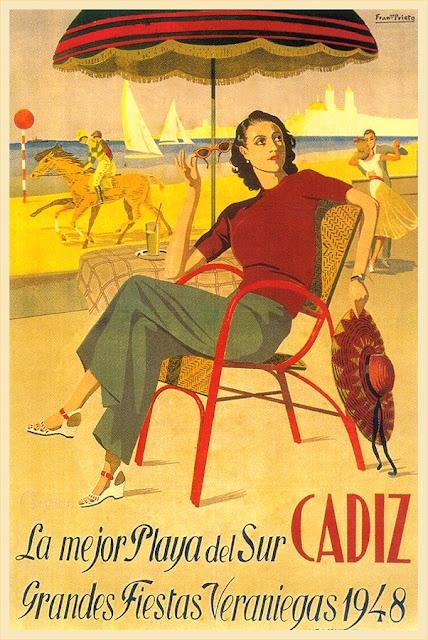 Cádiz, la mejor Playa del Sur :: Grandes fiestas veraniegas 1948. http://www.costatropicalevents.com/en/costa-tropical-events/andalusia/welcome.html