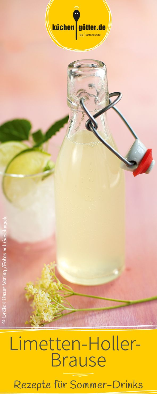Holunderblütensirup für eine feine Brause. Mit Frische- und Vitaminkick!