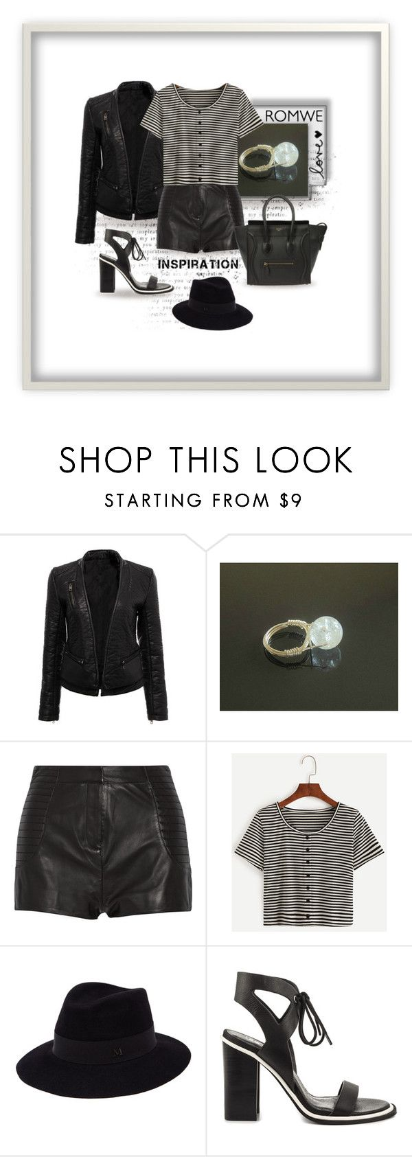 ROMWE by styledonna on Polyvore featuring moda, Pierre Balmain, Sol Sana, Maison Michel, contest and romwe