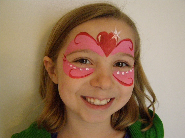 face painting valentine heart mask sweetheart face painting facepainting facepaint. Black Bedroom Furniture Sets. Home Design Ideas