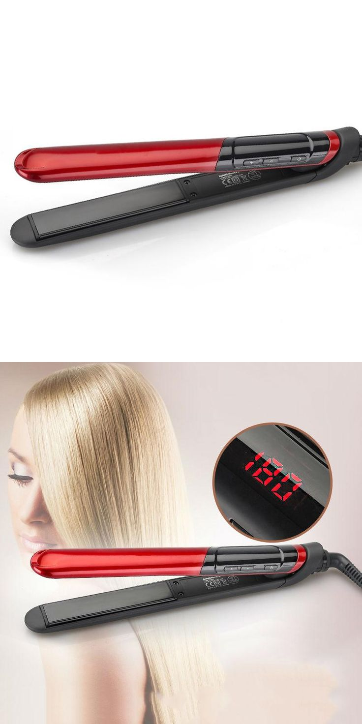 [Visit to Buy] New Professional Hair Straightener LED Display Flat Iron Straightening Irons Planchas Straight Hairstyle Styling Tools #Advertisement