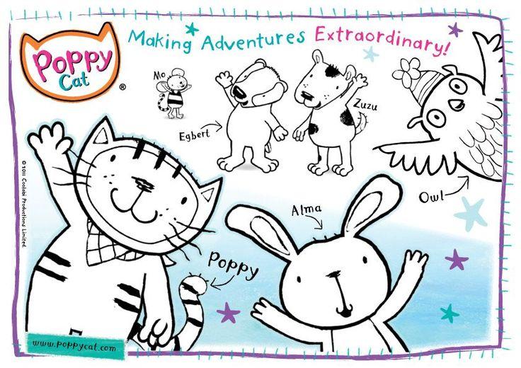 Mejores 38 imágenes de Poppy Cat en Pinterest | Amapolas ...