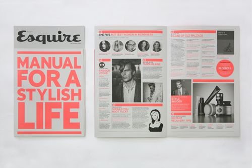Launching the Esquire zine.