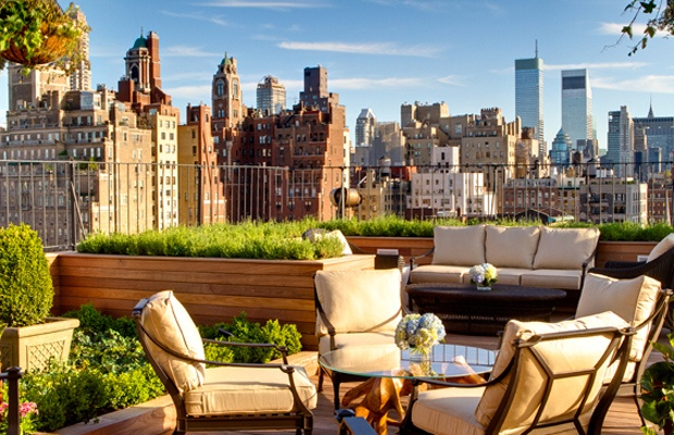 New York, New York: Rooftops Gardens, New York Cities, The View, Travel, Nyc, Rooftops Terraces, Newyork, Roof Gardens, Hotels