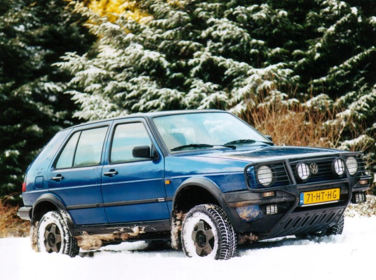 A lifted VW Golf from the factory. | Volkswagens ...