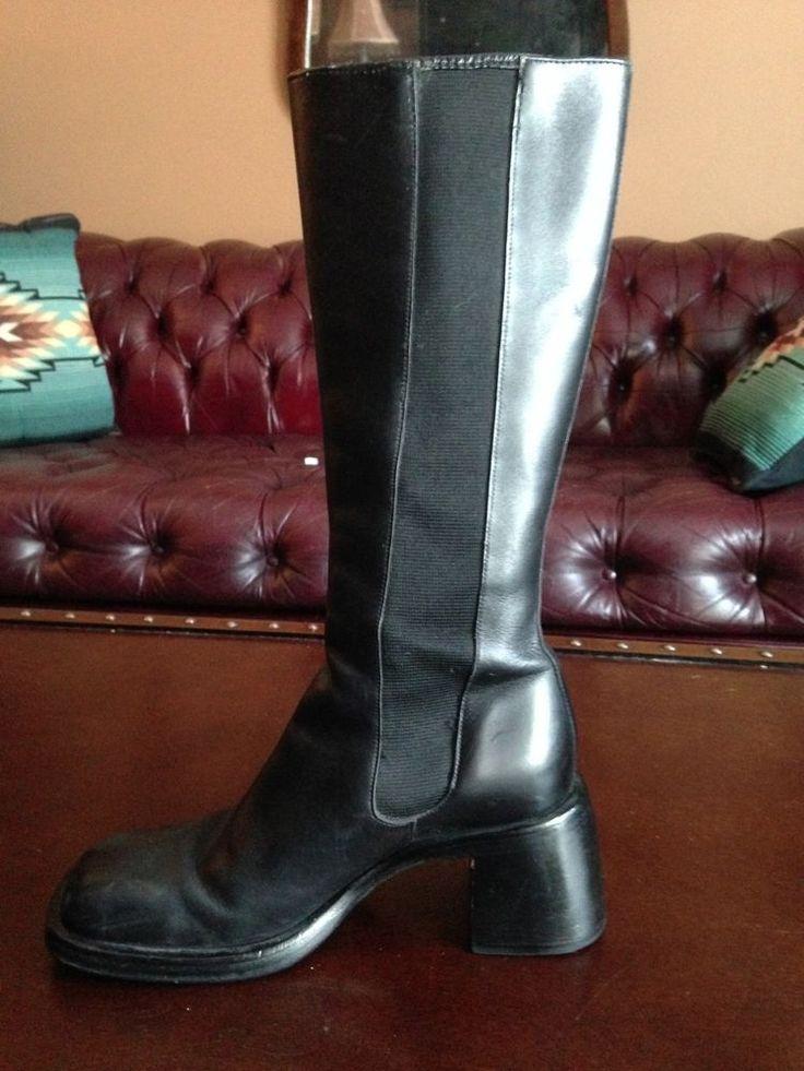 Tom & Eva Women's Boots Black 4 UK-afficher le titre d'origine