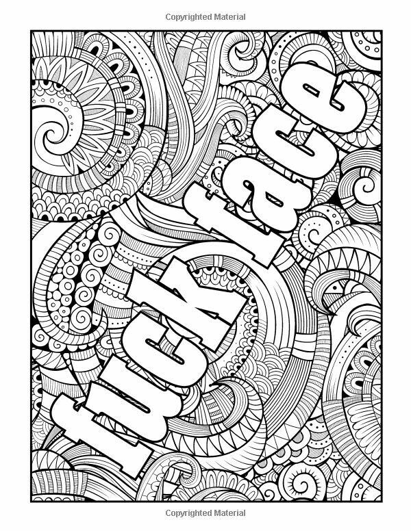 Swear Word Stress Relieving Coloring Book 37 Funny Swearing And Cursing Designs For Angry People Curse Books Volume