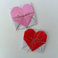 heart envelope origami