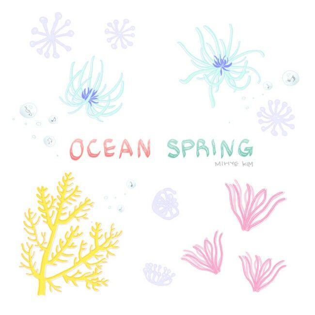 Copyright ©Mihye-Kim All copyrights reserved   #illustration #illust #spring #ocean #bluespring #underthesea #cute #OCEANSPRING #海 の #春 #海の中 #マリン #aqua #aquarius  #바다 #봄 #봄바다 #봄이왔어요 #봄그림그램