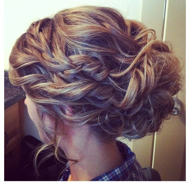 Braided UpDo For Homecoming, Prom, Wedding