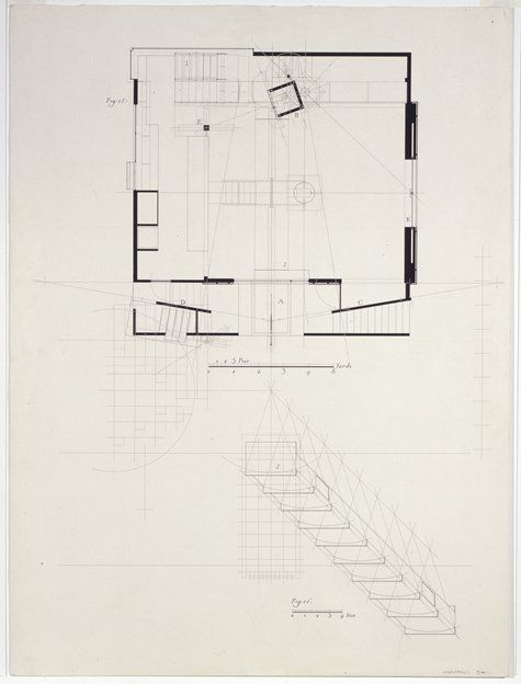 """Thom Mayne with Andrew Zago, """"6th Street: Fig. 16"""" (1986) 