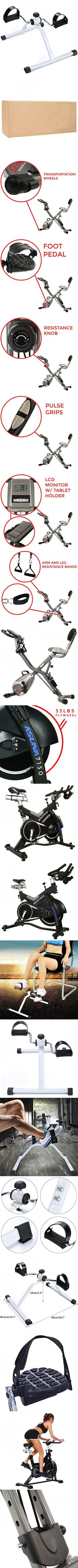 FDegage Folding Adjustable Exercise Bikes Mini Fitness Pedal Exerciser with Resistance Knob 1