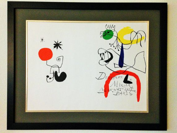 SALE Only 400.00 was 599.99 Framed Miro Lithograph Vintage ...