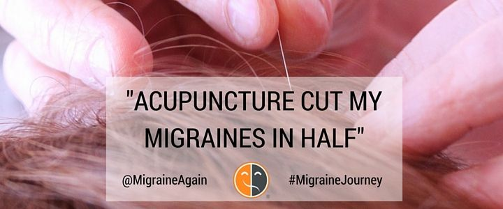 Less painful than Botox, without the side effects. Would you try #acupuncture for #migraine relief? Check out Lisa's story. https://migraineagain.com/migraine-journey-acupuncture/?utm_campaign=coschedule&utm_source=pinterest&utm_medium=Migraine%20Again&utm_content=%22Acupuncture%20Cut%20My%20Migraines%20in%20Half%22