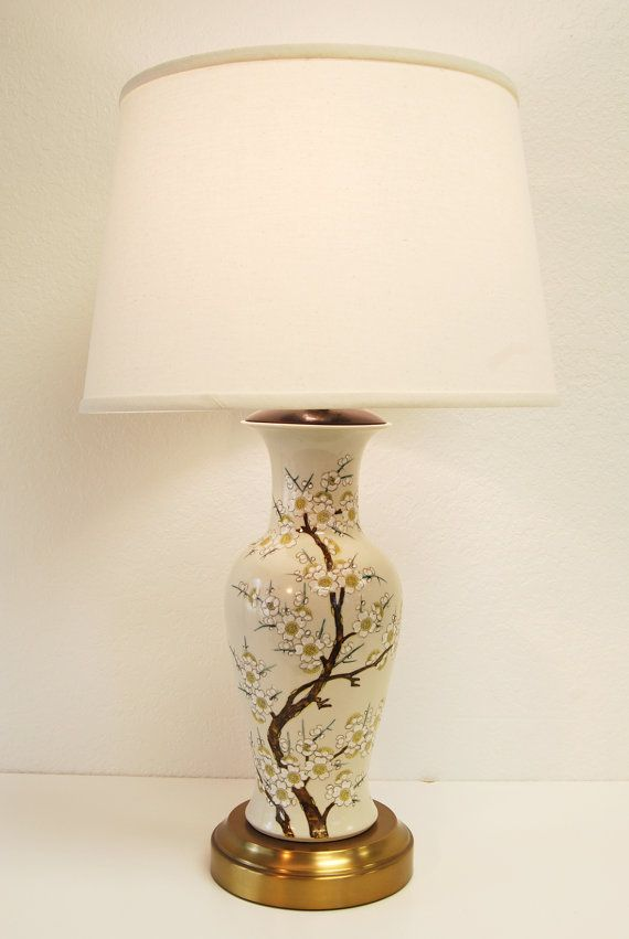 This full sized, antique, hand painted chinoiserie ginger jar shaped lamp, was totally rewired and converted to be cordless, with our companys patented retro fit kit. The lamp can now operate independent of an outlet for up to 20 hours using our 12V LED bulb (equivalent output to a 40 watt) with our rechargeable lithium ion battery pack. The lamp is topped off with a new off white linen tapered drum shade.  The quality of this lamp is wonderful with beautifully detailed hand painting on the…