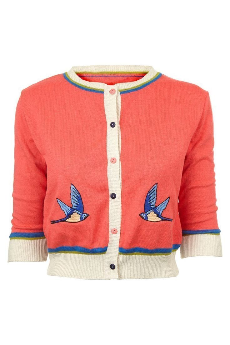 Swallow Coral Cardigan