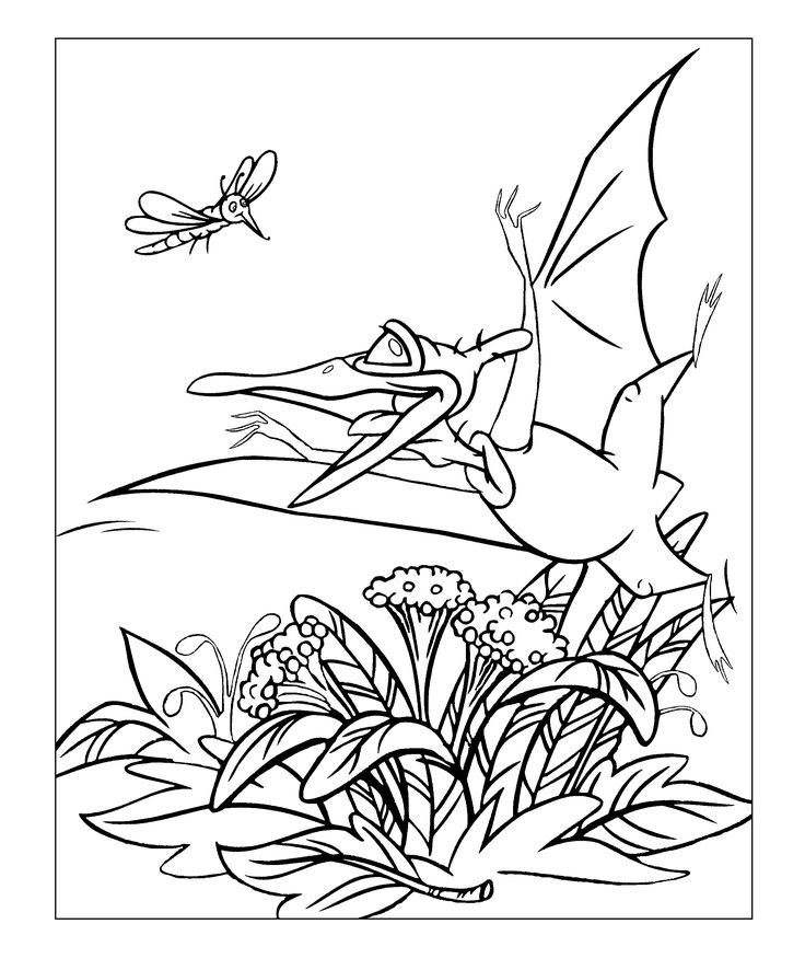 pteranodon petrie from land before time coloring pages for kids printable free land before time - Land Before Time Free Coloring Pages