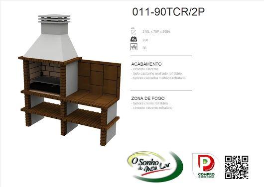 Churrasqueira Modelo  011-90TCR/2P