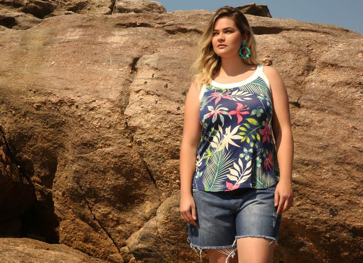 Regata Estampada Plus size
