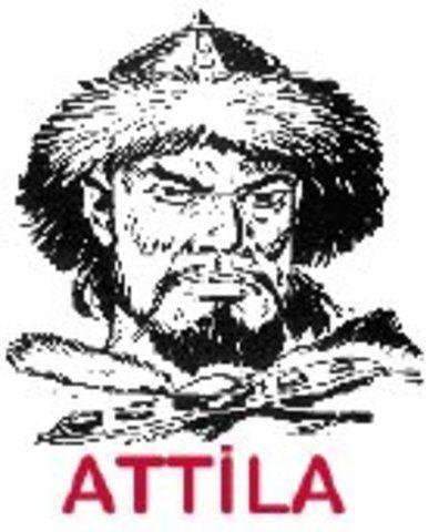 Attila le hun célèbre héro, père fondateur de la Hongrie, serait né vers 395 dans les plaines du Danube, et meurt en 453 dans l'est de la Hongrie. Attila était le roi des huns. Son empire s'étendait de l'Asie centrale jusqu'en Europe centrale, il soumit...