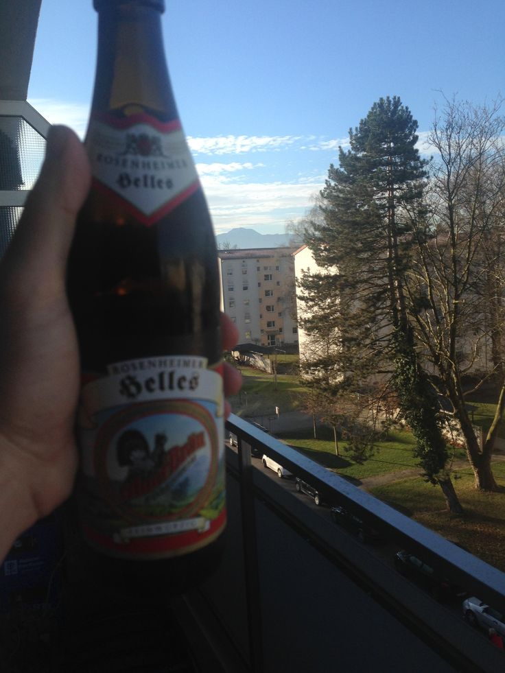 [Rosenheim, Germany] My view of the Alps from my new apartment.